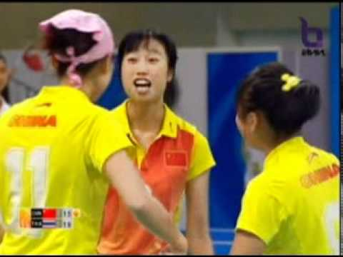 Sepak Takraw(Women's Team A+B) @2010 Asian Games - Thailand vs China (Gold Medal Match) 5/10