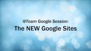 The NEW Google Sites