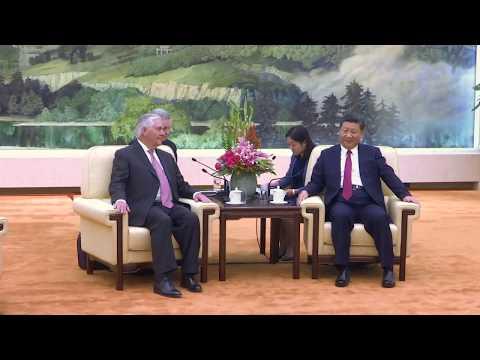 Secretary Tillerson Meets with Chinese President Xi Jinping in Beijing