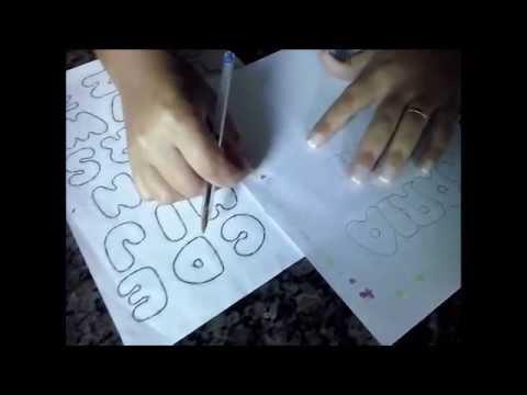 Dicas Gratis Montando Nome Para Pintar Nas Fraldas Youtube