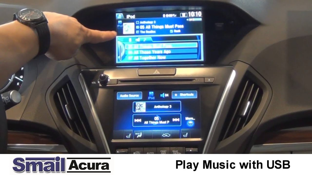 learn how to stream music from your phone in a 2015 acura mdx