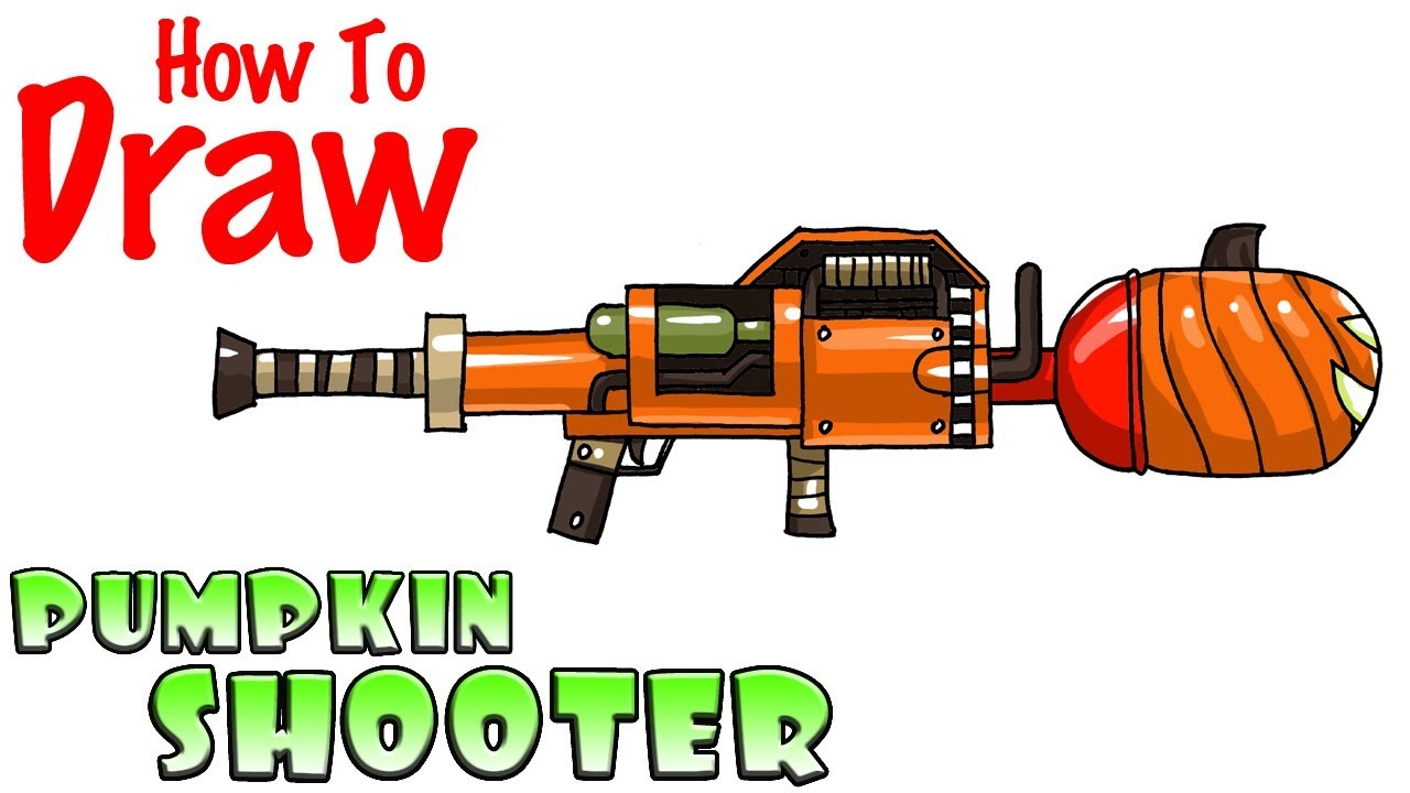 How to Draw the Pumpkin Shooter | Fortnite - YouTube