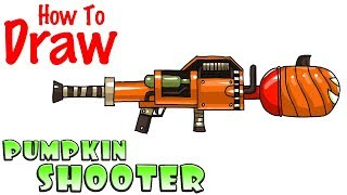 How to Draw the Pumpkin Shooter   Fortnite