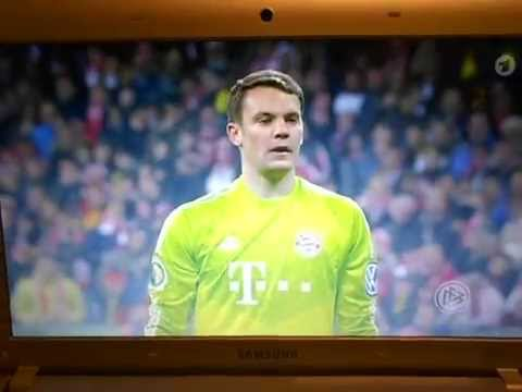 DFB Halbfinale Bayern München gegen Borussia Dortmund Elfmeterschießen 28.04.2015