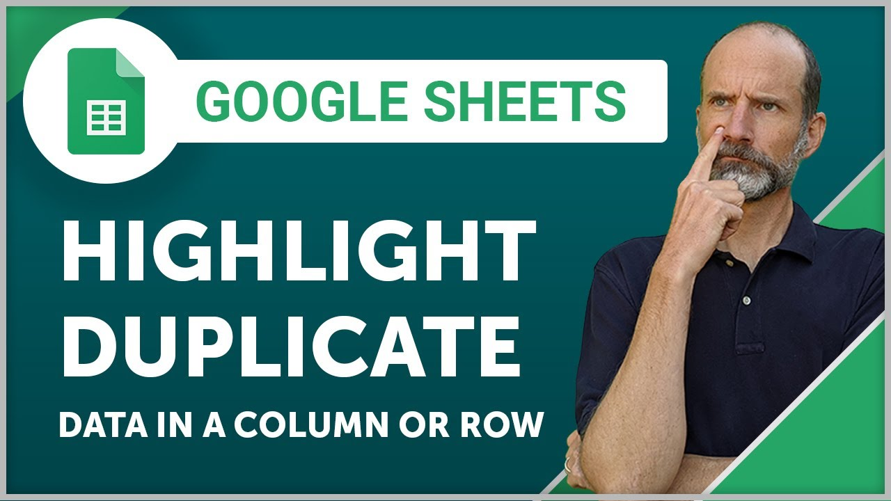 Google Sheets Highlight Duplicate Data In A Column Or Row