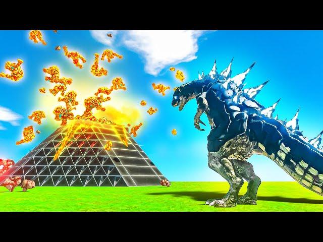 GODZILLA Fights a VOLCANO Unit!? - Animal Battle Revolt Simulator