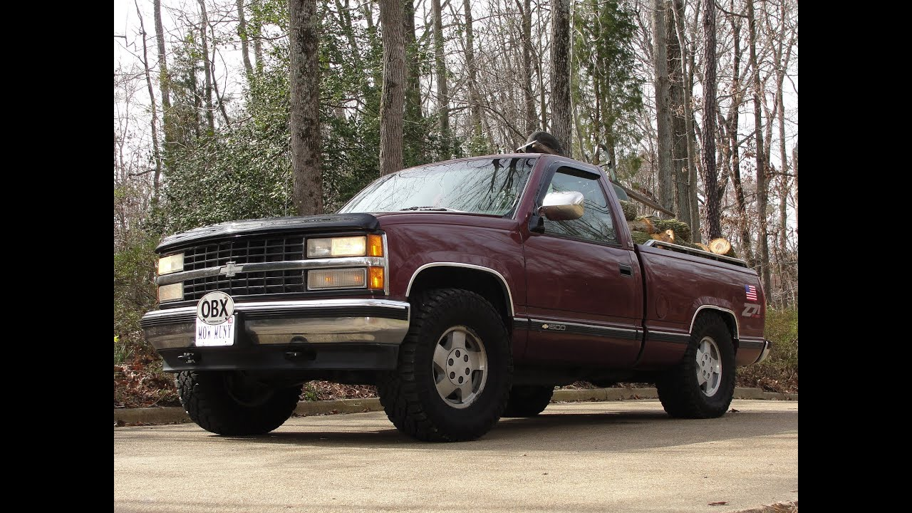 93 CHEVY SILVERADO Z71 OFF ROAD 4 X 4 SHORT BED * RUNNING OVER ...