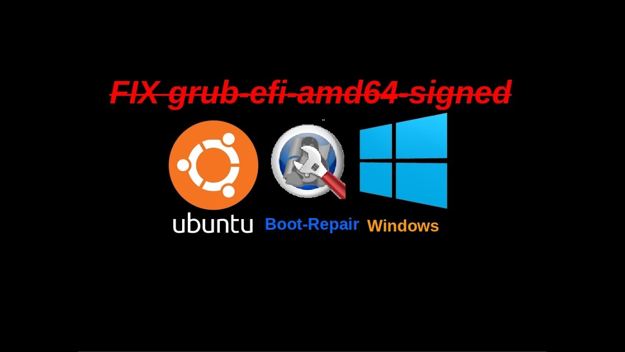 How Fix grub-efi-amd64-Signed Failed Installation Ubuntu OS