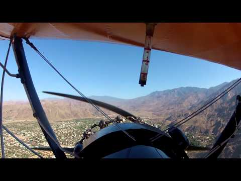 Flight on Boeing PT 17 over Palm Springs, CA
