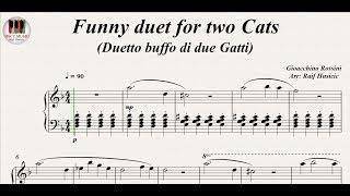 Funny duet for two Cats (Duetto buffo di due Gatti) - Gioacchino Rossini, Piano