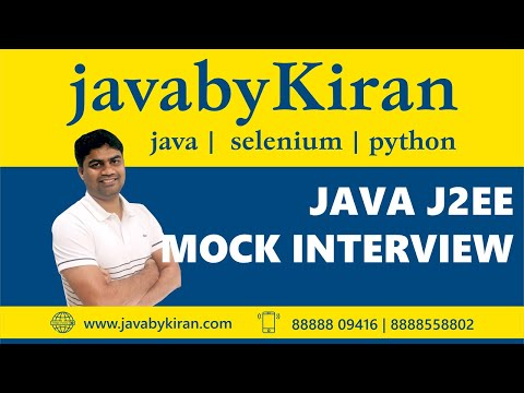 Core Java Interview Questions-By Kiran Sir-JAVA By Kiran,Pune