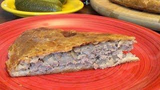 Пирог с мясом и картошкой на все случаи жизни! Готовьте обязательно!