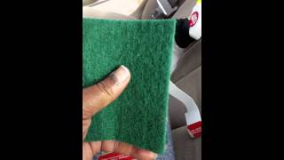 Removing tint glue off back window part 1