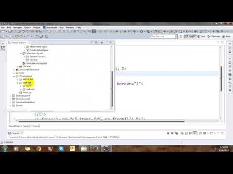 CRUD JSP using Servlet and Hibernate thumbnail