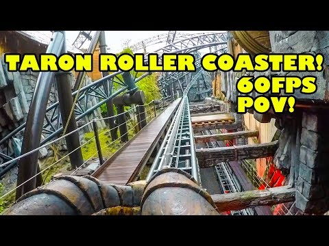 Taron Roller Coaster AWESOME 60FPS HD Front Seat POV! Phantasialand Germany
