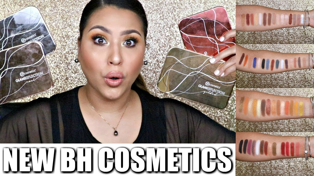 Bh Glam Reflection Palettes Try On Swatches