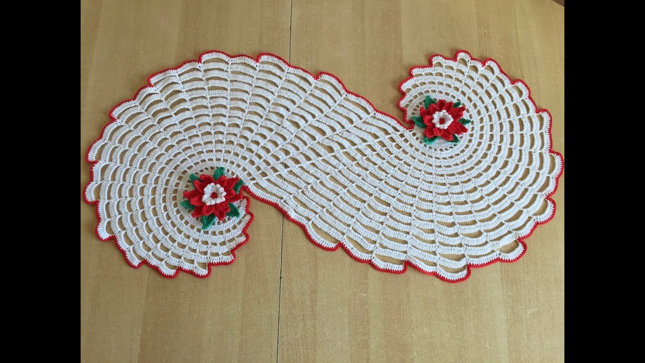 Tuto chemin de table spirale ou tapis au crochet youtube - Faire un chemin de table ...