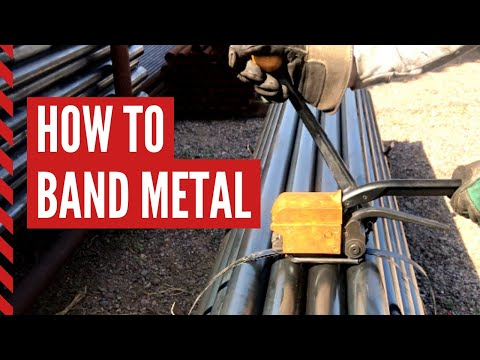 How To Band/Strap Metal For Shipping Or Storing
