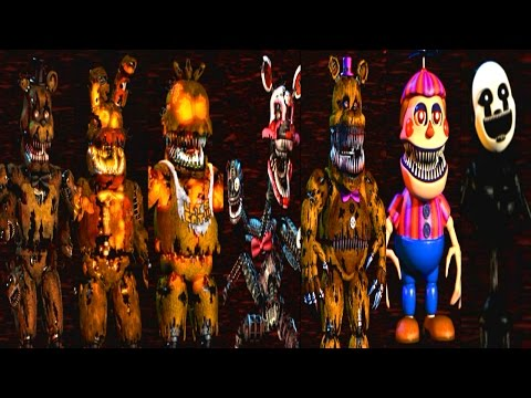 Five Nights At Freddy's 4 All Animatronics