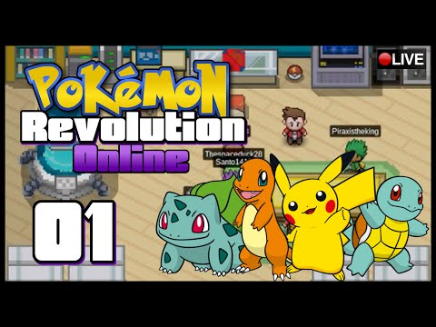 Pokémon Revolution Online LIVE w/ AppleCode Episode 1 | Getting Started in Kanto!