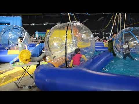 Waterball Pool in Action in Sapporo, Japan