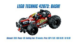 LEGO Technic 42073: BASH! In-depth Review & Speed Build [4K]