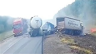 EXTREME TRUCK DRIVING FAILS! Stupid Drivers On Road JULY 2017