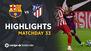 Highlights Fc Barcelona Vs Atlético De Madrid 2-2