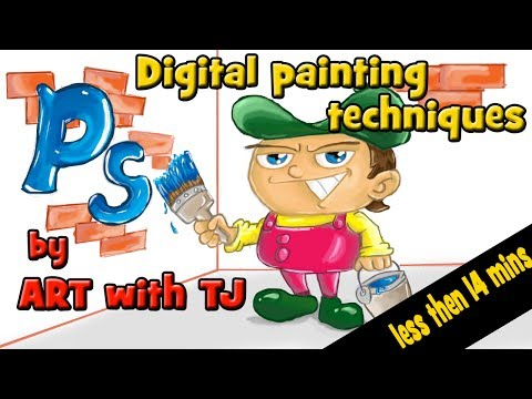 Digital Painting Tutorial | Photoshop Techniques in less then 14 mins