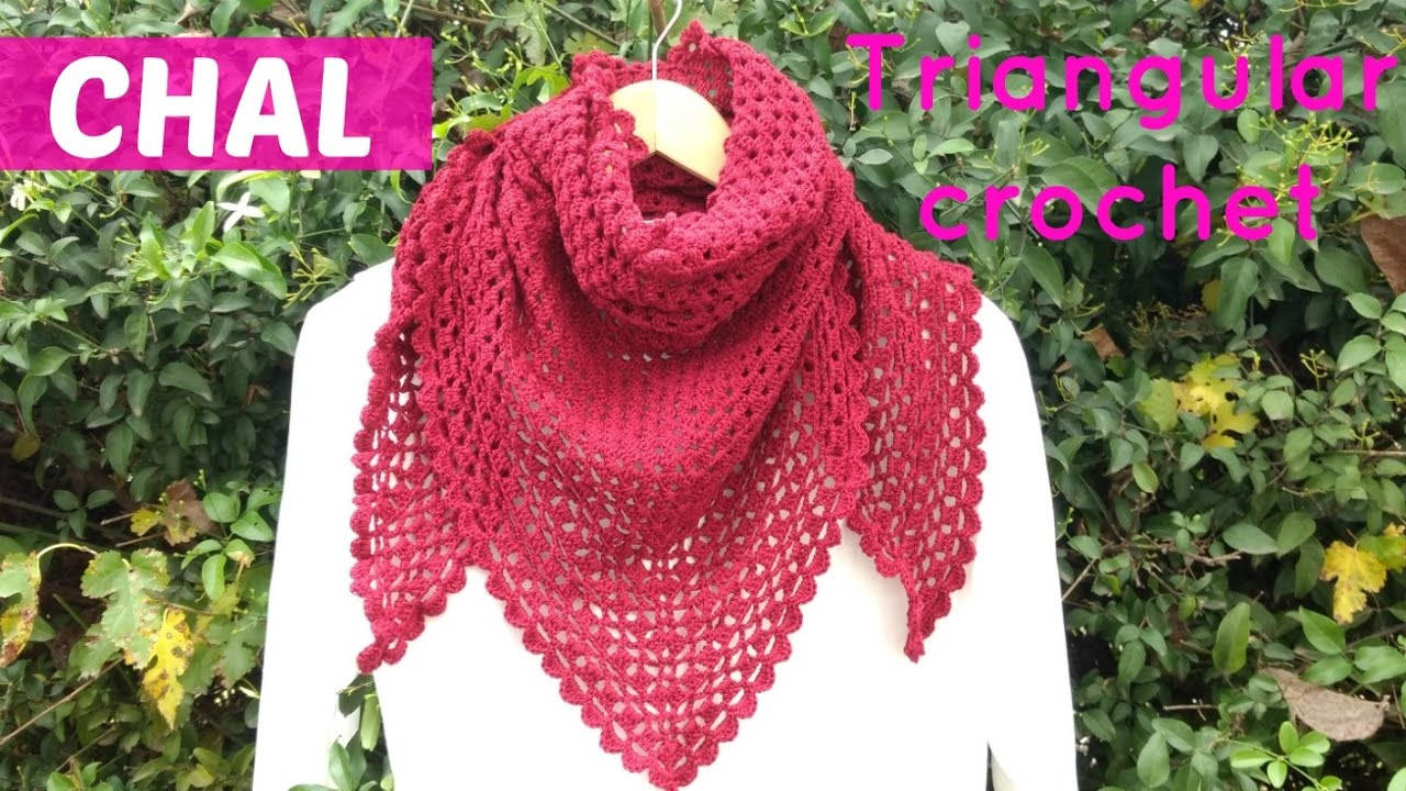 Chal triangular a crochet facil - YouTube