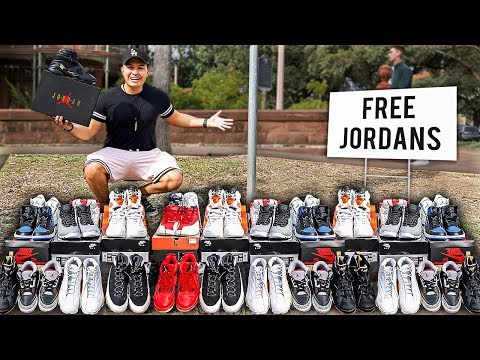 Giving Away EVERY Air Jordan For Free