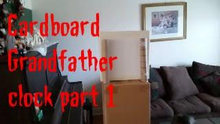 Cardboard grandfather clock part 1