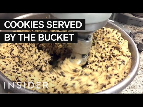 Warm Cookies Are Served By The Bucket