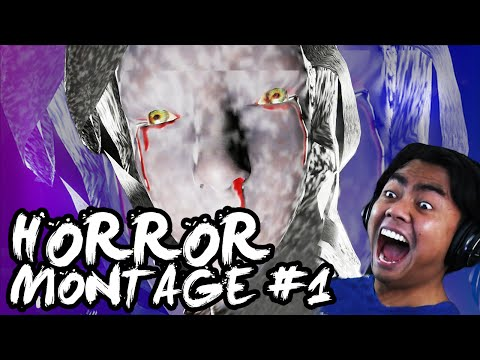 [FUNNY] HORROR GAME MONTAGE (JUMPSCARES) #1!