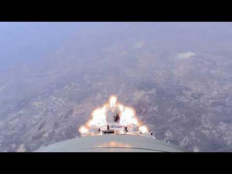 Пуск РН «Союз-ФГ» с ТПК «Союз МС-10»: видео с бортовых камер
