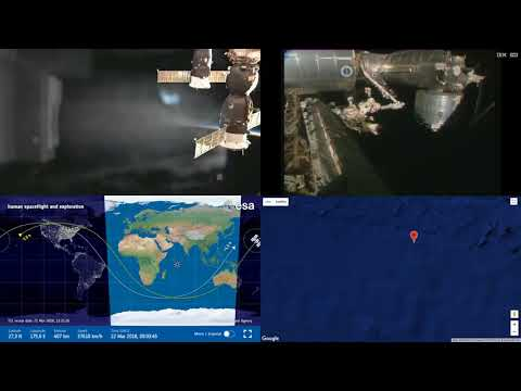 Sunset Over North Pacific - NASA/ESA ISS Space Station Livestream With Map - 47 - 2018-03-22