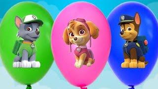 Шары - Щенячий Патруль. Лопаем шарики сюрприз игрушки для детей Щенячий Патруль. Balloons Surprise.