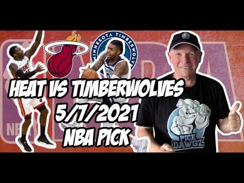 NBA Betting Pick: Miami Heat vs Minnesota Timberwolves 5/7/21 Free NBA Pick and Prediction