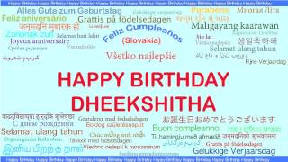 Dheekshitha   Languages Idiomas - Happy Birthday