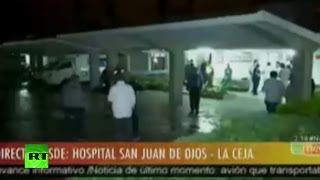 Plane crash in Colombia  At least six resued & sent to hospital