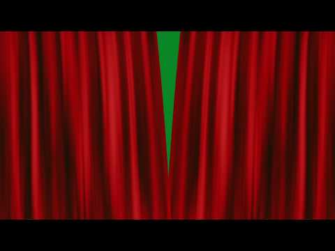 Red Curtains Drawn Open - green screen bkgrnd - AE