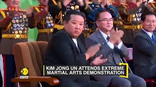 Kim Jong Un attends martial arts demonstration, North Korean army showcases Defence capabilities