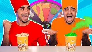 تحدي الشامية او الفشار بعجلة الحظ الغامضة 🍿🔥 Mystery Wheel Of Popcorn Challenge