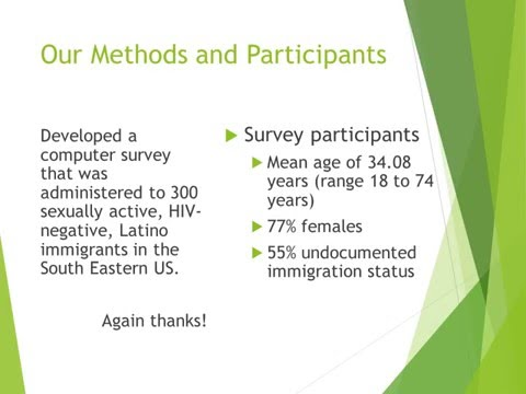 The influence of Immigration laws on the HIV prevention behaviors of Hispanic immigrants to the US
