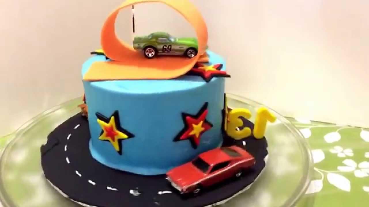My Hot Wheels Birthday Cake Youtube