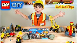 Playing with HUGE Lego City Mining Trucks Collection + a Toy Unboxing