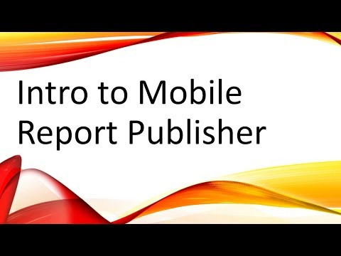Intro To SQL Server Mobile Report Publisher