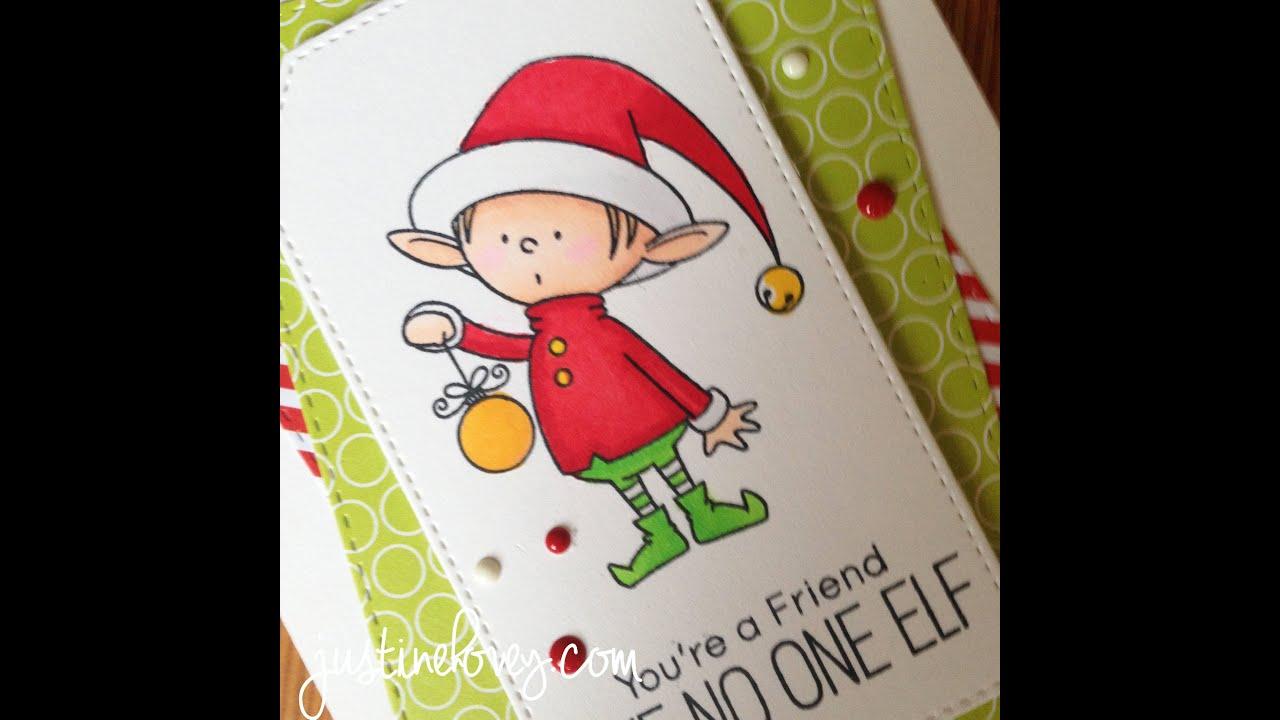 12 days of christmas cards day 7 santas elves youtube - Elf Christmas Card