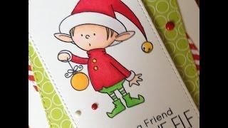 12 Days of Christmas Cards *Day 7* Santa's Elves