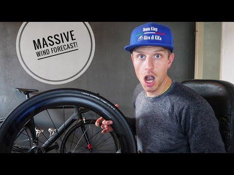 CANYON AEROAD BIKE SETUP FOR CROSSWIND RACE CONDITIONS! - #cycling Holland